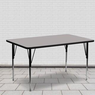 21.25-30.25-Inch Adjustable Legs Laminate Activity Table - 21.25 x 30.25