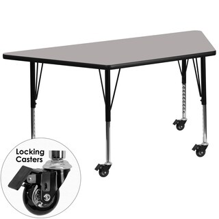 17.5-25.5-Inch Adjustable Legs Laminate Mobile Preschool Activity Table