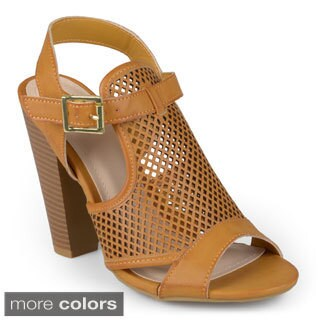 Journee Collection Women's 'Petal' Open Toe Sling-back Heeled Sandals