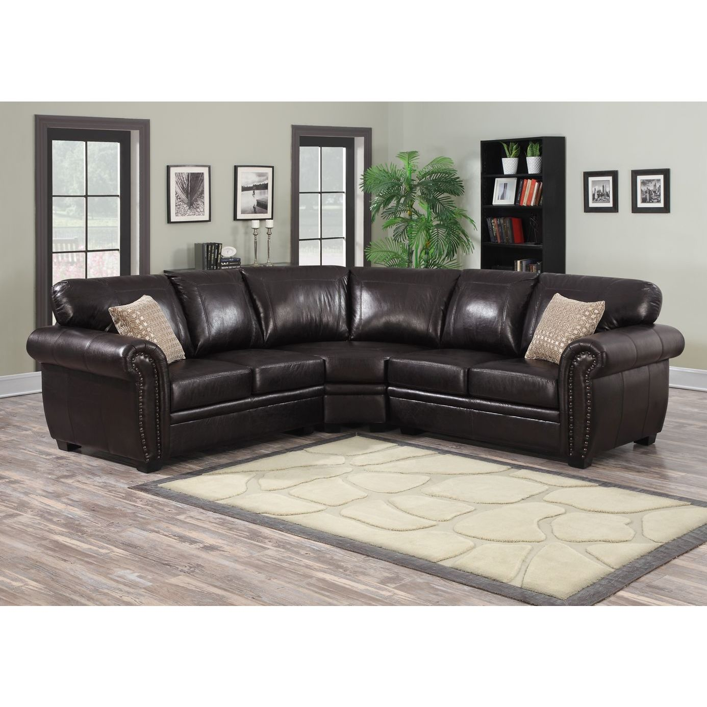 Admirable Connie 3 Piece Dark Brown Sectional Sofa Cjindustries Chair Design For Home Cjindustriesco