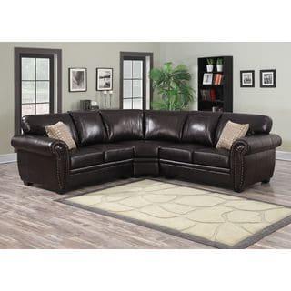 Sofa Trendz Bindy Saddle Faux Leather Sectional 18740456