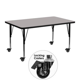 17.5-25.5-Inch Height-adjustable Laminate/ Chrome Mobile Preschool Activity Table