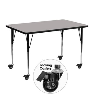 22.37-30.5-Inch Height-adjustable Laminate/ Chrome Mobile Activity Table