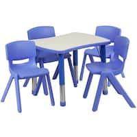Height-adjustable Plastic Preschool Activity Table Set