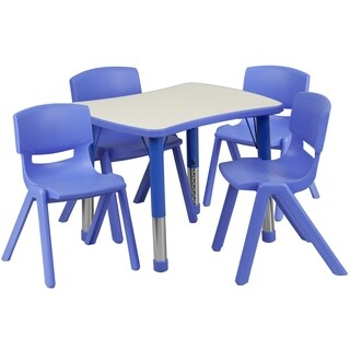 Height-adjustable Plastic Preschool Activity Table Set (3 options available)