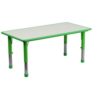 14.5-23.5-Inch Height-adjustable Rectangular Plastic Preschool Activity Table