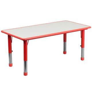 14.5-23.5-Inch Height-adjustable Rectangular Plastic Preschool Activity Table