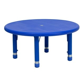 14.5-23.75-Inch Height-adjustable Plastic Preschool Activity Table