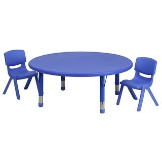 14.5-23.75-Inch Height-adjustable Plastic Preschool Table Set