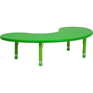 14.5-23.75-Inch Height-adjustable Plastic Preschool Table