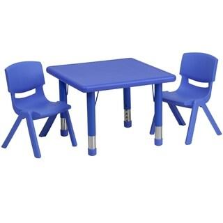 24-inch Height-adjustable Plastic/ Steel Pre-school Activity Table Set