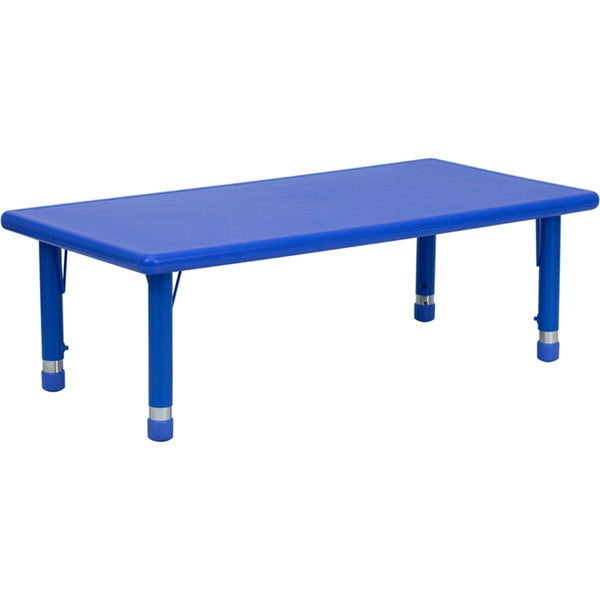 height adjustable plastic steel preschool activity table
