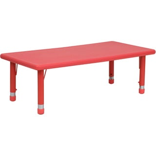 14.5-23.75-Inch Height-adjustable Plastic/ Steel Preschool Activity Table (3 options available)