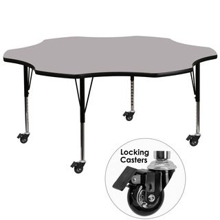 17.37-25.37-Inch Height-adjustable Chrome Mobile Preschool Activity Table