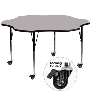 22.25-30.37-Inch Height-adjustable Laminate Mobile Flower Activity Table