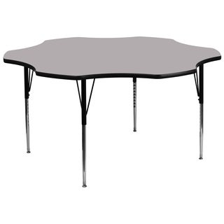 21.125-30.125-Inch Height-adjustable Laminate Flower Activity Table