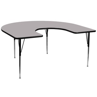 21.125-30.125-Inch Height-adjustable Laminate Horsehoe Activity Table