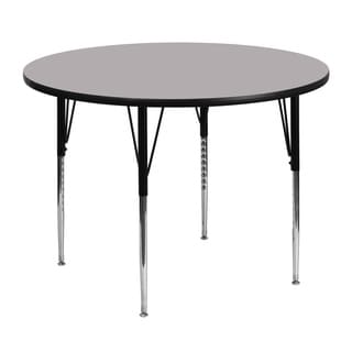 21.125-30.125-Inch Height-adjustable Steel/ Laminate Round Activity Table