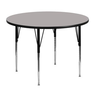 21.25-30.25-Inch Height-adjustable Steel/ Laminate Round Activity Table