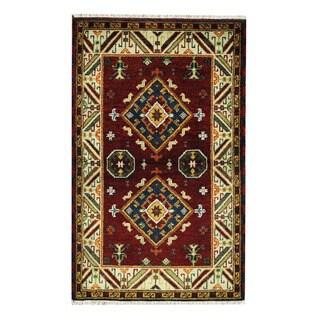 Herat Oriental Indo Hand-knotted Tribal Kazak Wool Rug (3'1 x 5')