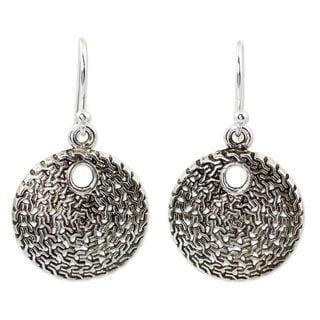 Handmade Sterling Silver 'Energized' Earrings (Thailand)
