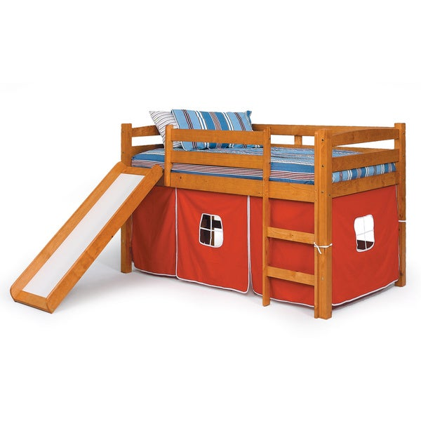 woodcrest pine ridge tent/ slide bunk bed - free shipping today