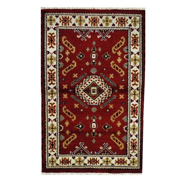 Herat Oriental Indo Hand-knotted Tribal Kazak Wool Rug (3'2 x 5'1) - 3'2 x 5'1