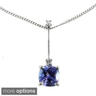 M.V. Jewels 10k White Gold Diamond Pendant Choice Of Gemstone|https://ak1.ostkcdn.com/images/products/10056082/P17200839.jpg?impolicy=medium