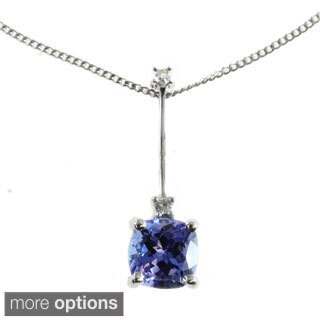 M.V. Jewels 10k White Gold Diamond Pendant Choice Of Gemstone