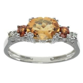 Michael Valitutti 10k White Gold Gemstone Ring