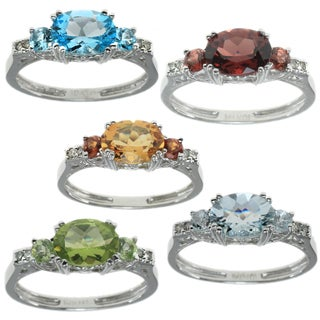 Michael Valitutti 10k White Gold Gemstone Ring