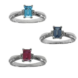 Michael Valitutti 14k Gold Topaz, Alexandrite or Ruby Ring