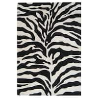 Alliyah Handmade Zebra Print New Zealand Blend Wool Area Rug - 4' x 6'