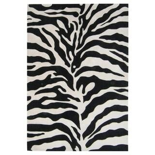 Alliyah Handmade Zebra Print New Zealand Blend Wool Area Rug - 4' x 6'