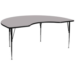 21.125-30.125-Inch Height-adjustable Laminate Kidney-shaped Activity Table