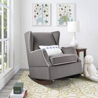 Avenue Greene Franklin Graphite Grey Wingback Rocker Chair