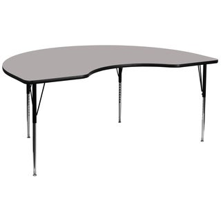 21.25-30.25-Inch Height-adjustable Laminate/ Steel Kidney-shaped Activity Table