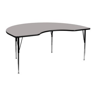 21.25-30.25-Inch Height-adjustable Steel Kidney-shaped Activity Table