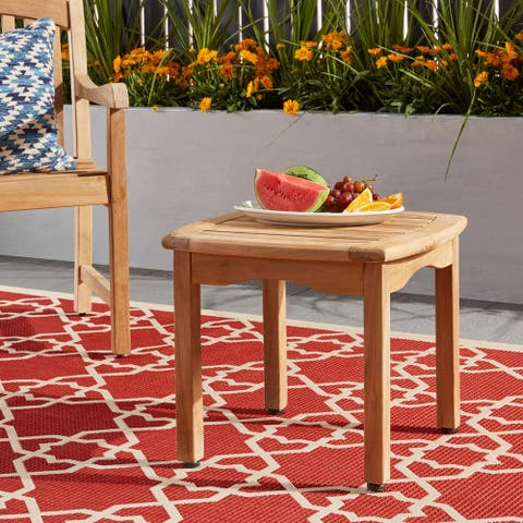 Tottenville Teak Square Side Table by Havenside Home