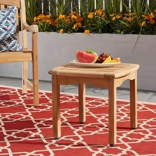 Havenside Home Tottenville Teak Square Side Table