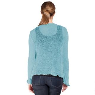 Women's Long Sleeve Light Netted Bali Sweater (Indonesia)