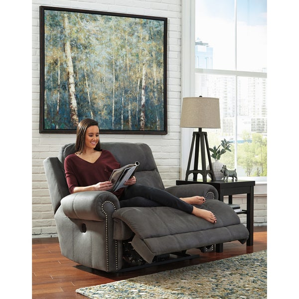 oversized recliner  trent home delouth leather recliner