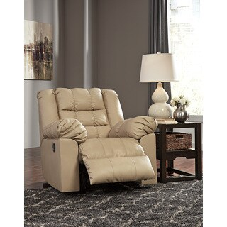 Signature Design by Ashley Brolayne DuraBlend Beige Rocker Recliner