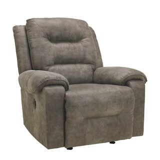 Signature Design by Ashley Rotation Smoke Power Rocker Recliner