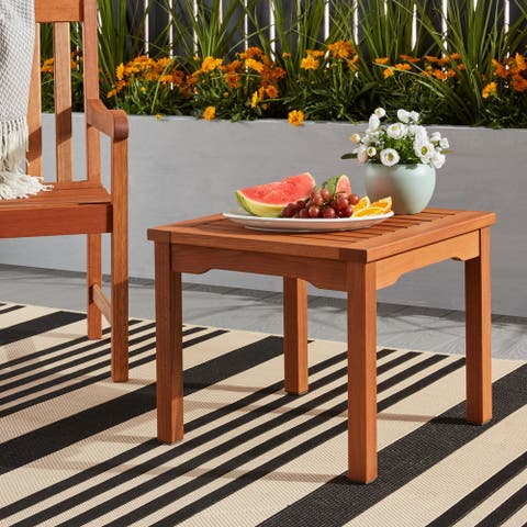 Tottenville Eucalyptus Square Side Table by Havenside Home