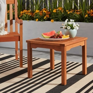 Link to Tottenville Eucalyptus Square Side Table by Havenside Home Similar Items in Outdoor Coffee & Side Tables