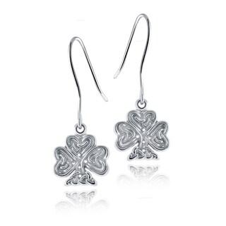 Mondevio Sterling Silver Celtic Clover Earrings