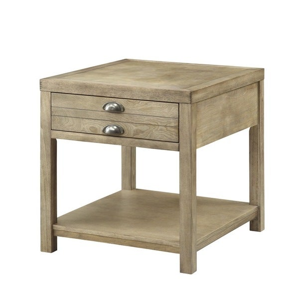 Coaster Company Cottage Driftwood End Table   Free Shipping Today    Overstock.com   17201032