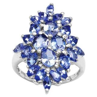 Malaika 3.40 Carat Genuine Tanznaite .925 Sterling Silver Ring
