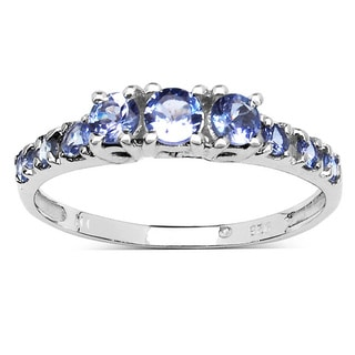 Malaika 0.52 Carat Genuine Tanzanite .925 Sterling Silver Ring